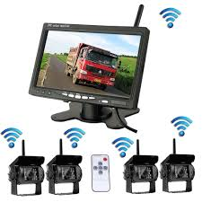 Wireless 4 Backup Cameras System With 7 Inch Car Rear View Monitor ... Wireless 4 Backup Cameras System With 7 Inch Car Rear View Monitor Wireless Backup Camera Waterproof And Tft Lcd Color E X P L O R E L I V R A Wood Box With A Truck Wooden Thing Unique Cversion Campers Tiny House Rv Outdoors Ideas Look At The Box Truck Youtube 14 Simple Genius Toys Pinterest 1997 Ford F350 73l Turbo Diesel Ambulance Camper Van 12 Way Led Boat Blade Fuse Rv Block Holder Gorgeous 6 Vanchitecture