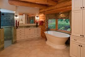 Rustic Bathroom Lighting Ideas by Bathroom Outstanding Rustic Bathroom With Beams Rustic Bathtub