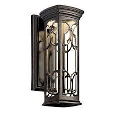 kichler 49226ozled olde bronze franceasi single light 15 led