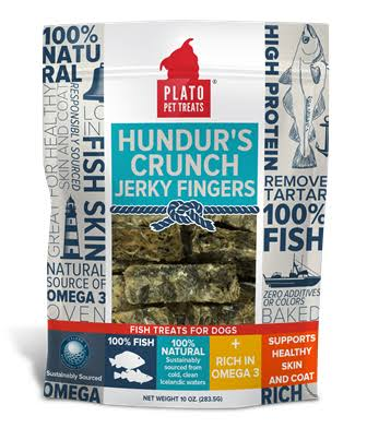 Plato Hundur's Crunch Jerky Fingers Dog Treats 10 oz.