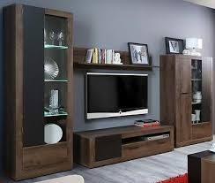 wohnwand trass anbauwand wohnzimmer möbel vitrine tv