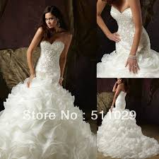 WD 296 Fancy sparkle beaded fitted bodice strapless bling wedding