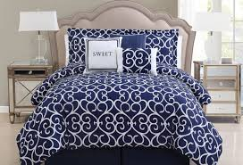 bedding set beautiful navy blue and white bedding blue and brown