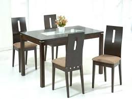 Kitchen Top Dining Table Set 4 Chairs Rectangular Glass With Wood Ideas Oak Cabinets