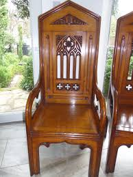Stackable Church Chairs Uk by Large 19th Century Carved Oak Throne Bishops Church Gothic Chair