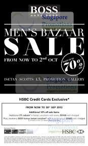 Hugo Boss Men's Bazaar Sale Up To 70% Off @ Isetan Scotts 28 ...