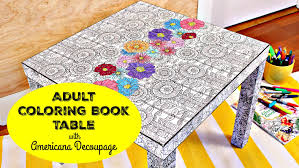 HOW TO Coloring Book Table DIY