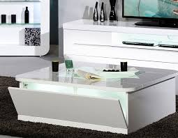 table basse blanc laque design carrée dixon 2 hcommehome