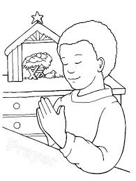 Childrens Praying Hands Coloring Page Boy Sheet Open Print Christian Child Lds Medium Size