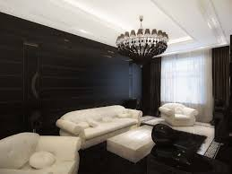 Black Leather Sofa Decorating Pictures by Apartment Contemporary Interior Ideas With White Fabric Sofa And