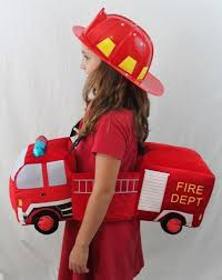 Fireman Fire Fighter Engine One Size 3-7 Halloween Costume Boy Girl ...