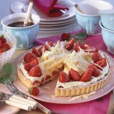 erdbeer tarte mit weißer schokocreme rezept