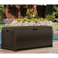 Suncast Resin Deck Box 50 Gallon by Deck Boxes U0026 Patio Storage You U0027ll Love Wayfair