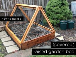 How to build a covered raised garden bed