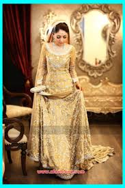Girls Walima Dress Designs For Bride 2016 17