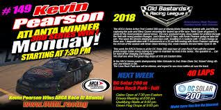 OBRL ARCA Series Atlanta Winner (Kevin Pearson) Poster - Old ...