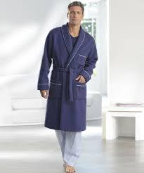 robe de chambre en robe de chambre en maille courtelle manches longues nuit homme