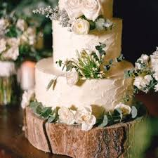 Cake On Rustic Tree Trunk Stand