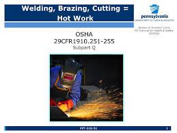 bureau workers comp welding brazing cutting work bureau of workers comp pa