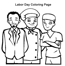 Labor Day American Workers In Coloring Page