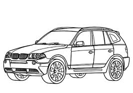 BMW Car X3 Type Coloring Pages