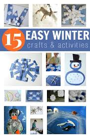 Easy Winter Craft Ideas For Kids Perfect The Weather Right Now If You Cant Fight Snow At Least Use It Some Fun Inspiration