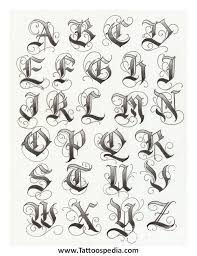 Tattoo Fonts Abc 1