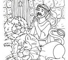 Bible Story Coloring Pages Daniel And The Lions Den Page Printable