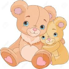 Parent Hugging Bears Clipart
