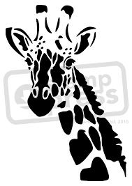 Elephant Pumpkin Carving Pattern by Giraffe Stencil A5 U0027giraffe U0027 Wall Stencil Template Ws00004446
