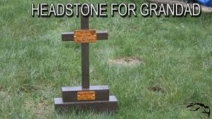 Diy Halloween Wood Tombstones by Diy Headstone Wood Youtube