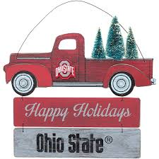 100 Ohio Light Truck State Buckeyes And Tree Wooden Sign