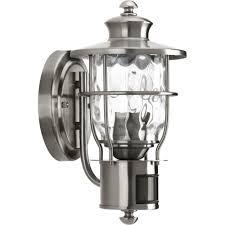 progress lighting beacon collection 1 light stainless steel motion
