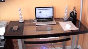 Z Line Claremont Desk by Review Z Line Galaxy Glass Computer Desk Youtube