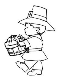 Thanksgiving Kid Coloring Pages Provide Hours Of Online And At Home Fun For Kids During The Holiday Season Pilgrims Turkey Dinner More