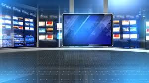Television Set Design Newsroom FREE Chroma Green Screen News Virtual Background