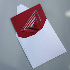 100 Bauhaus Style Notecard Red Triangle