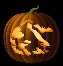 Ariel On Rock Pumpkin Carving Pattern by Flying Witch Pumpkin Carving Stencil Witchpumpkincarvingpatterns