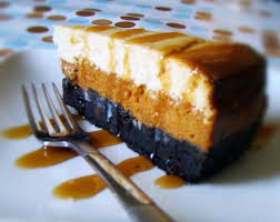 Pumpkin Cheesecake Gingersnap Crust Caramel by Phoenix Family Foodie Blog October 2012
