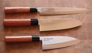 couteau de cuisine professionnel japonais 3 couteaux japonais et la mallette la coutellerie des chefs