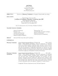 Ideal Resume Sample For Pharmacy Technician