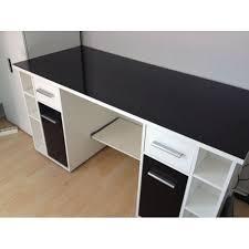 bureau blanc et bureau blanc et noir meuble bas rangement bureau