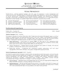 Store Manager Resume Examples Format For Retail Information