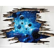 hallobo bodenaufkleber decke aufkleber 3d galaxie planet