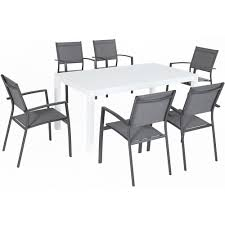 Hanover Del Mar 7-Piece Aluminum Outdoor Dining Set With 6 Sling Chairs And  A 78 In. X 40 In. Dining Table Bar Ding Height Bistro Base Tablecloth Sets Standing A Jobs Meeting Table Designer Conference Tables From 8 Seater Manly Outdoor Table Chair Set Licious Small Office Desk And Chairs Fniture Kitchen Event Seating Arrangements Quick Guide Tagvenuecom Home Living Room At Best Prices Amazoncom Qinyanhome Prints Decorate The Bathroom Modern Solis Armis 9 Piece With Mid Back List Of Standard Heights How To Calculate Cool Retro Dinettes 1950s Style Cadian Made Chrome Cozy Ideas