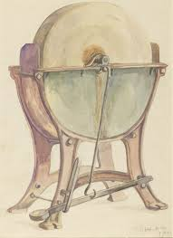 Sketch Of Grindstone On Iron Frame David Jones 1910 Tate