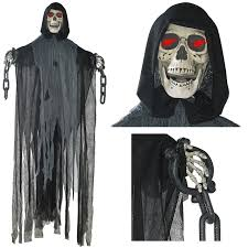 Motion Activated Halloween Decorations by Amazon Com Morris Costumes Hanging Phantom 72 In Animated Clothing