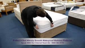 protect a bed allerzip smooth waterproof mattress protector youtube