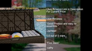 suncast dbw7300 mocha wicker resin deck box 73 gallon youtube