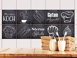 grazdesign fliesenaufkleber anthrazit mit spruch guten appetit für küche alte küchen fliesen überkleben fliesenbild selbst gestalten 10x10cm